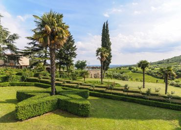 The garden of <br> Villa Spinosa